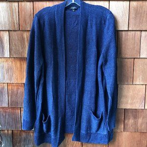 Like New Talbot's Navy Open Front Cardigan - 1X